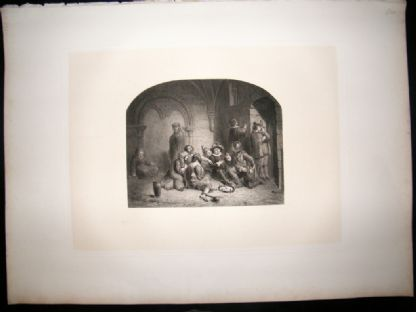 After Bouvy 1854 LG Folio Steel Engraving. The Prison Group | Albion Prints